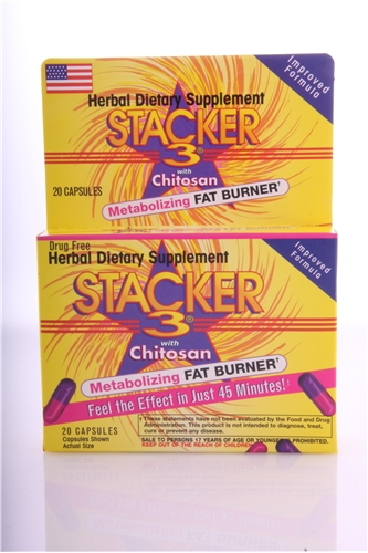 Original NVE Stacker 3  - 20ct box with Ephedra
